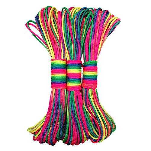 beautylife88-101ft-rainbow-color-paracord-rope-parachute-cord-outdoors-1-pack