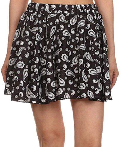 Simplicity Retro Full Short A-Line Skirt, Mini Dress, Black/White, XL Retro Cheer Shorts