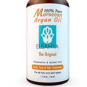 Elbahya 100% Pure Argan Oil Certified Organic & Natural From Morocco For Hair, Face & Nails