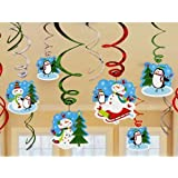 Amscan Joyful Snowman Value Pack Swirl Decorations