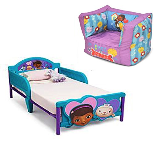 Disney Bundle of 2  Doc Mcstuffins Square Bean Bag Chair and Delta Children Doc  Mcstuffins. Doc McStuffins Furniture for the Playroom and Home   WebNuggetz com