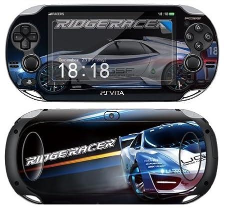 Sony PS Vita RIDGE RACER Protective Vinyl Skin Decal Set