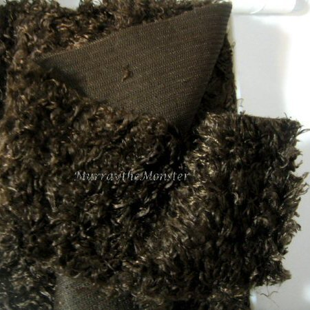 Wrights Dark Seal Brown Curly Faux Fur Band -8 yards