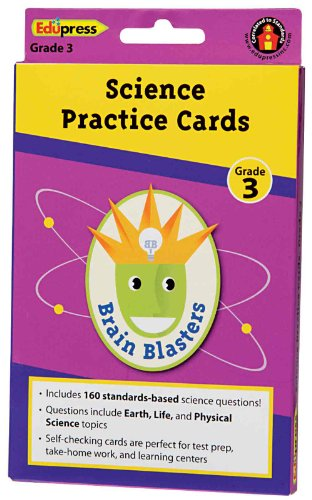 Brain Blasters Science Practice Cards Grade 3