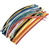 SOLOOP 70pcs 7 Color Assorted Colors Ratio 2:1 Polyolefin Heat Shrink Tubing Tube Kits