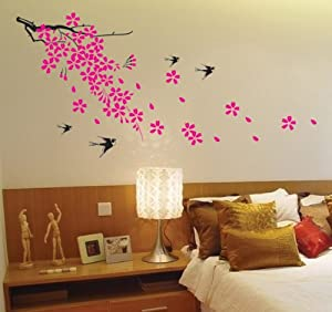 Super Giant Easy Wall Decor Sticker Wall Decal - Cherry Blossom, Birds by SMS