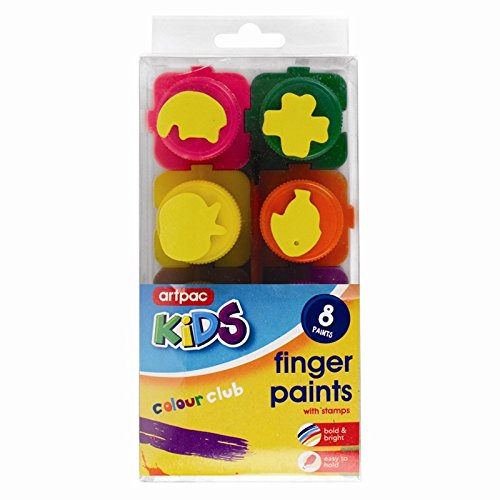 5starwarehouser-8-pots-of-finger-paints-brush-stamps-painting-children-crafts-poster-art-5star-cloth