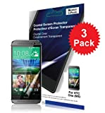 Green Onions Supply Basics Crystal Screen Protector for HTC One M8 (Pack of 3)