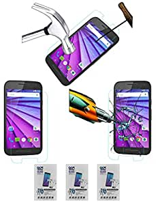 Acm Pack Of 3 Tempered Glass Screenguard For Motorola Moto G 3rd Gen Mobile Screen Guard Scratch Protector