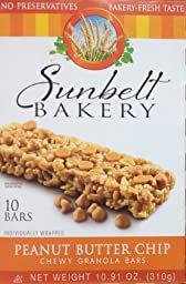Sunbelt Bakery\'s PEANUT BUTTER CHIP Chewy Granola Bars 10-Count (8 Boxes)