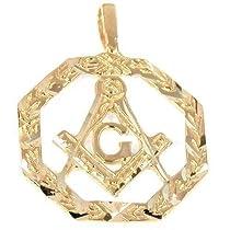 Hot Sale 14K Gold Charm Masonic Freemason Pendant Jewelry Part