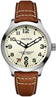 Nautica Men's N09560G BFD 101 Date Cream Dial Watch by Nautica