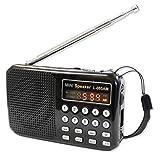 録音機能つき/充電/ワイドFM/AM /ラジオ MP3対応/ボイスレコーダー機能つき/FM/AMポケットラジオ・アメイズ(amaze) mini(ブラック)