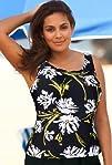 Beach Belle Mandalay Plus Size Tankini Top Womens Swimwear