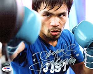 Manny Pacquiao Signed Photo - 8x10 - PSA/DNA Certified - Autographed Boxing Photos