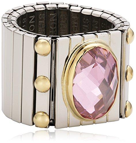 Nomination Damen-Ring Extra Groß Facettiert Zirkon Rosa Ring größe variabel 041541/003