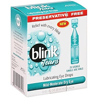 AMO Blink Tears Lubricating Eye Drops -- 25 Sterile Single-Use Vials