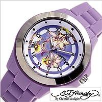 エドハーディー腕時計 [EdHardy時計](Ed Hardy 腕時計 エド ハーディー 時計) ミスト (MIST) レディース腕時計/ブラック ホワイト/EDHARDY-MT-PU [アナログ ブランド パープル]