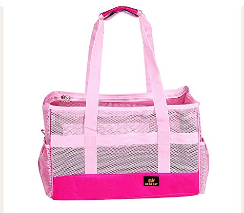 Pet Leso Dodopet Cat Travel Carrier Doggie Soft Sided Carriers Tote Bag Puppy Handbag Breathable Pink – S