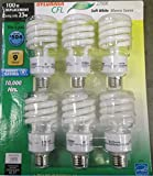 Sylvania X26588  23-Watt CFL Mini Twist Light Bulb, Soft White, 6 pack