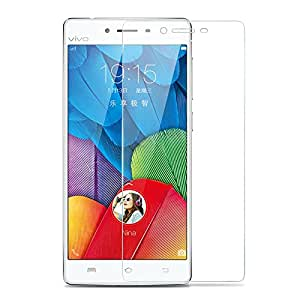 SNOOGG VIVO V3Full Body Tempered Glass Screen Protector [ Full Body Edge to Edge ] [ Anti Scratch ] [ 2.5D Round Edge] [HD View] - White