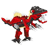 Dino Park Series With 191pcs Building Blocks Toy Play Set A Red Dinosaur Ready To Play With You With Moving Parts...