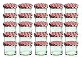 25er Set Sturzglas 125 ml Marmeladenglas Einmachglas Einweckglas To 66