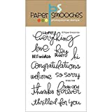 Paper Smooches Clear Stamps, 4 by 6-Inch, Simply Said
