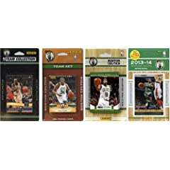 NBA Boston Celtics 4 Different Licensed Trading Card Team Sets by C&I Collectables