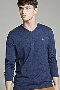 Long Sleeve Pima Jersey V-neck Tee-shirt