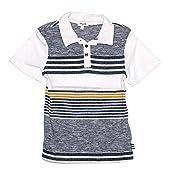 Mock Stripe Jersey Polo