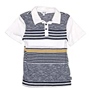 Mock Stripe Jersey Polo