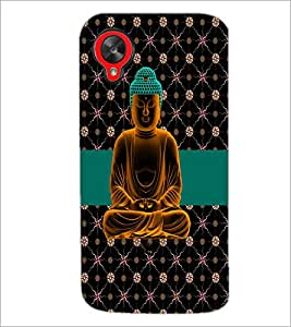 PrintDhaba Lord Buddha D-5629 Back Case Cover for LG GOOGLE NEXUS 5 (Multi-Coloured)