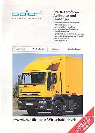 1993 Iveco & Spier Truck Trailer Brochure German at Amazon