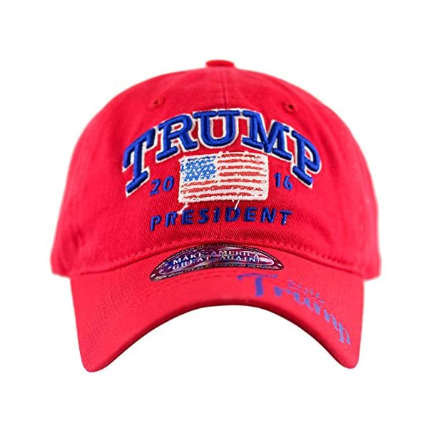 The Hat Depot Trump 2016 President Campaign Flag Washed Cotton ... b106c653bfad
