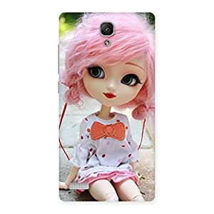 Stylish Pink Doll Back Case Cover for Redmi Note