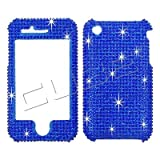 Apple iPhone 3G / 3GS Full Diamond Solid Blue Full Rhinestones/Diamond/Bling/Diva - Hard Case/Cover/Faceplate/Snap On/Housing/Protector