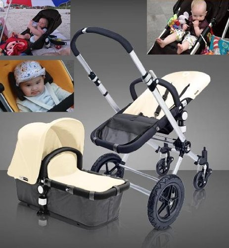 Big Discount Bugaboo Cameleon Baby Stroller 2012 Version Full Accessories Off White Top Black Base