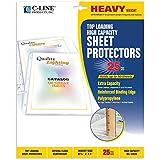 C-Line High-Capacity Sheet Protectors, Heavy Gauge, Letter, Clear, 25 per Box (62020)