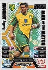 Match Attax 2013/2014 Bradley Johnson Norwich City 13/14 Man Of The Match