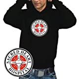 "Coole-Fun-T-Shirts Herren SCRUBS sacred heart hospital HOODIE - Sweatshirt m. Kapuze schwarz, XLvon ""Coole-Fun-T-Shirts"""