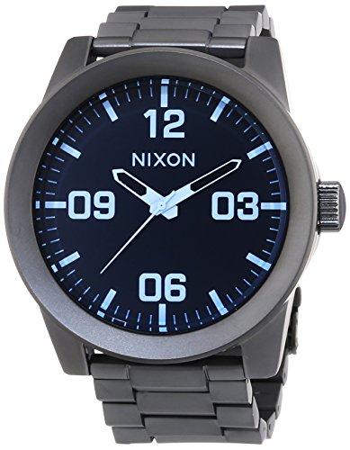 nixon-corporal-ss-gunmetal-blue-crystal-reloj-de-cuarzo-para-hombre-correa-de-acero-inoxidable-color