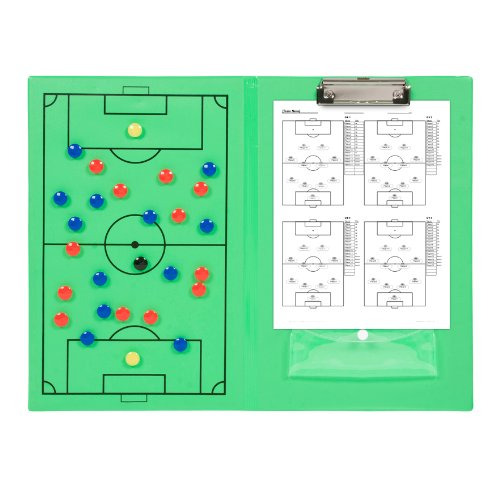 Magnetic Soccer Clipboard with Marker Pieces - Perfect to Coach Soccer, Basketball, & Hockey - by Trademark Innovations (Football Coach Board compare prices)