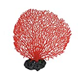 Jardin Plastic Coral Design Ornament for Aquarium, 6.5-Inch High, Red