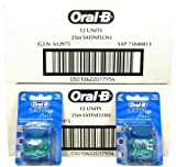 24x Oral-B Satin Floss Mint 25m (Flossing Action For A Fresh Clean Feeling)