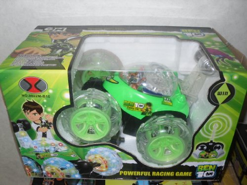 BEN 10 REMOTE CONTROL CAR STUNT CAR 360 TURNS MUSIC + LIGHTS