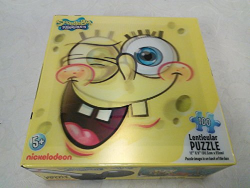 SpongeBob Squarepants 100 Lenticular Jigsaw Puzzle Playing Ukulele 2010 Nickelodeon