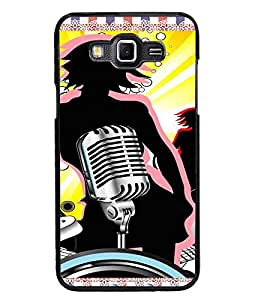 PrintDhaba Music D-4216 Back Case Cover for SAMSUNG GALAXY GRAND 3 (Multi-Coloured)