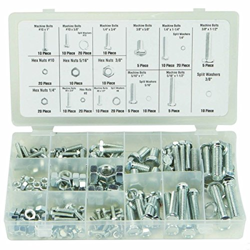 240 Pc Piece Sae Standard Size Nut And Bolt Screw Assortment Hardware Kit (Sae Bolt Assortment compare prices)
