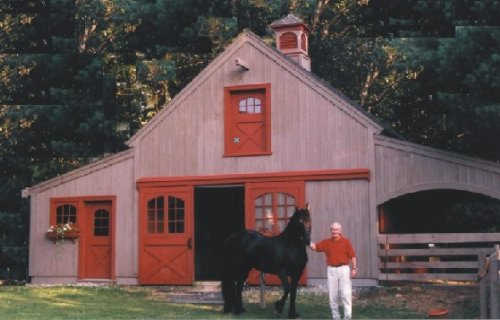 Nine small horse barn plans complete pole barn for Small horse barn plans